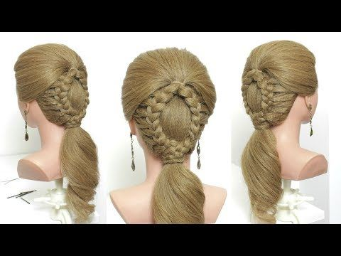 Braided Low Ponytail Tutorial For Long Hair Youtube Hair