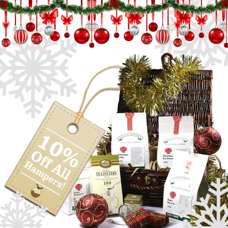 ***10% OFF ALL HAMPERS!***  Use Voucher Code: XMASGIFT to get 10% off all of our lovely hampers online!   http://www.tea-and-coffee.com/gifts-and-accessories/hampers