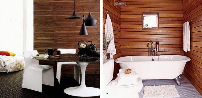 Dentre os vários tipos de revestimento, a madeira na parede dos ambientes é uma das mais belas opções. Concorda?