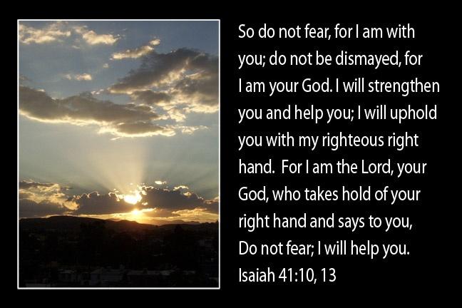 Isaiah 41:10,13