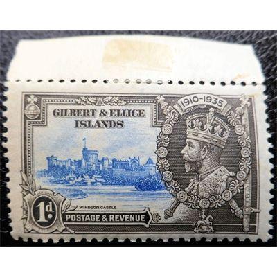 Gilbert and Ellice Islands, King George V, Windsor Castle, Silver Jubilee, 1935 unused