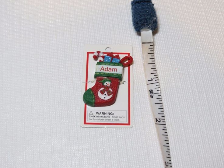Itsy Bitsy Stocking Ornament name Adam NEW Mini Ganz personalized Christmas gift #Ganz