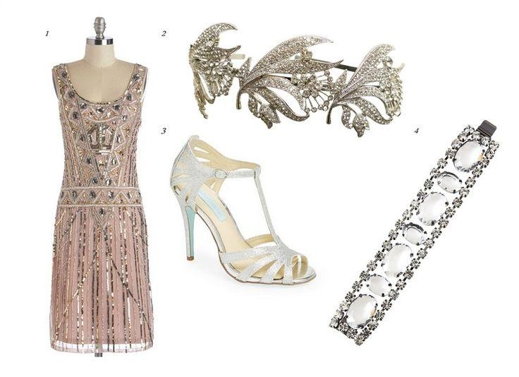 robe charleston années folles Gatsby le Magnifique et accessoires assortis