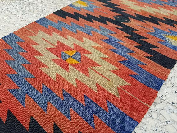 RUNNER RUG High Quality Kelim Runner Narrow Kilim Runner Rug