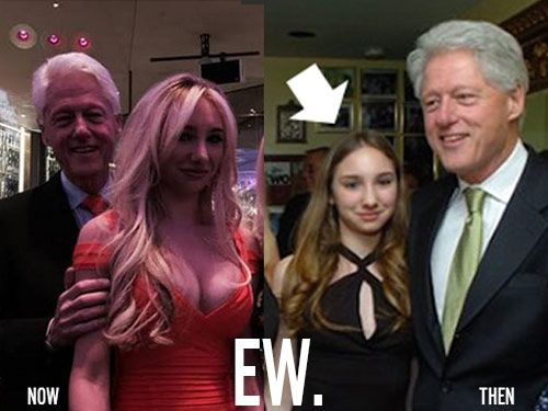 YUCK! Viral Pic of Bill Clinton Creeping on Long-Time Friend's Daughter Creeps People Out 12/18/14