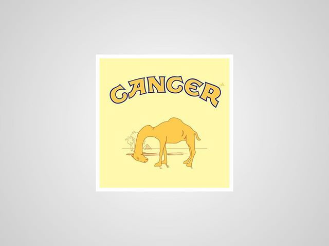 I thought I'd post my previous series of #honestlogos from 2011 - #4 Cancer. #adbusting #parody #logo #satire #graphicdesign #viktorhertz #camel #cancer #tobacco #cigarette #smoking
