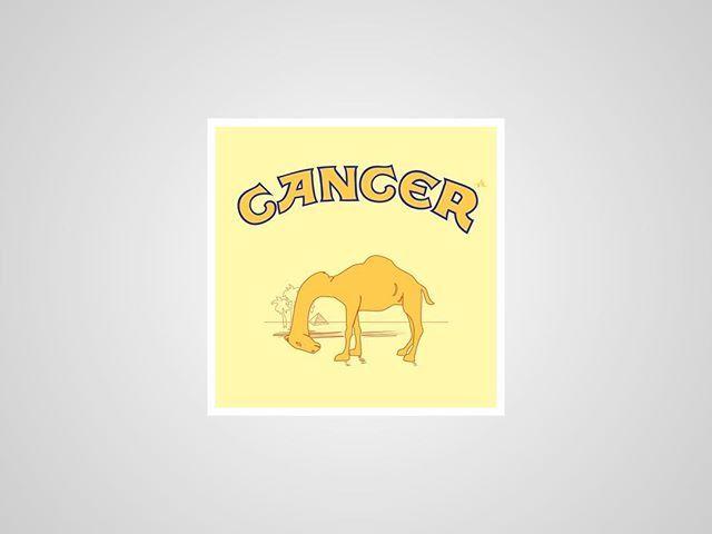 I thought I'd post my previous series of #honestlogos from 2011 - #4 Cancer. #adbusting #parody #logo #satire #graphicdesign #viktorhertz #camel #cancer #tobacco #cigarette #smoking