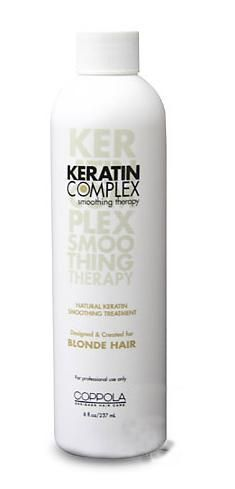 Keratin Complex by Coppola Natural Keratin Smoothing Treatment for Blonde and Highlighted Hair