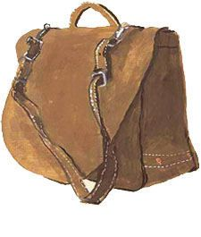 The bag that birthed my big-bag obsession -- the Counterfeit Mailbag from J. Peterman. Got the catalog in 1984, and have longed for it ever since. If I win the lottery, I'm buying it.