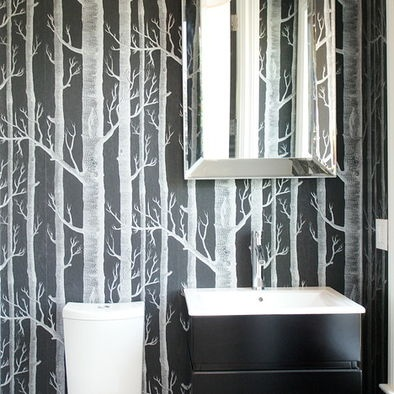 Modern Bathroom Wallpaper Design, Pictures, Remodel, Decor And Ideas.  Houzz.com