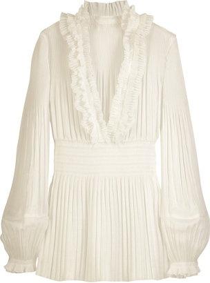 ShopStyle: Diane von Furstenberg Georgette ruffle blouse