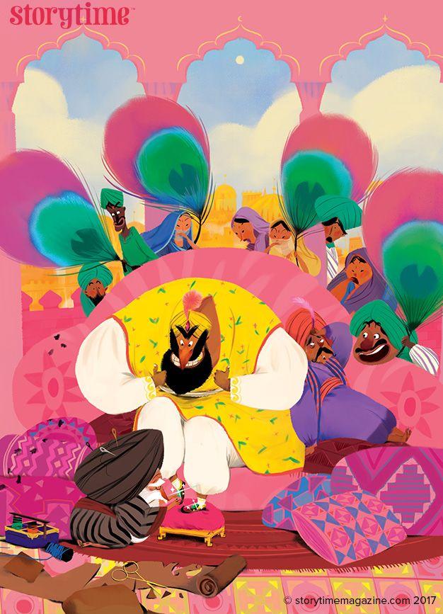 King Dirty Feet – a tale from India in Storytime Issue 30. Art by La Studio (https://www.behance.net/la-studio-saigon) ~ STORYTIMEMAGAZINE.COM
