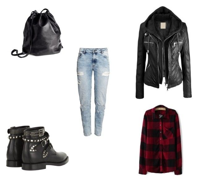 F #2 by dianatairum on Polyvore featuring H&M and Yves Saint Laurent