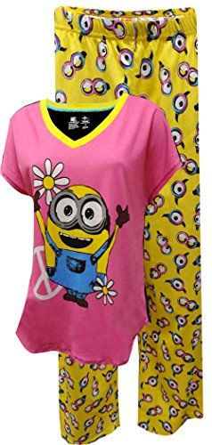 Despicable Me Bob The Minion Pajama for women (Small). Machine Washable; Easy Care. Imported. Junior cut.