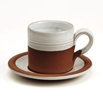 The humble Stephen Pearce Coffee Cup - such a favourite at home and abroad. Made from local clay, water and skills with a touch of love and a dedication to design and quality. We all agree that our morning coffee doesn't taste the same out of anything else - do you? Stephen Pearce Pottery.