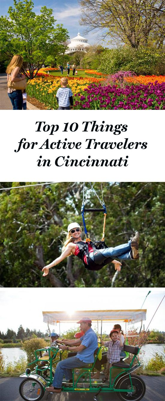 The Cincinnati Zoo and Botanical Garden, EarthJoy Tree Adventures, Queen City Underground Tour...just a few of our top 10 things for active travelers to do in Cincinnati! See all: http://www.midwestliving.com/blog/travel/top-10-things-for-active-travelers-to-do-cincinnati