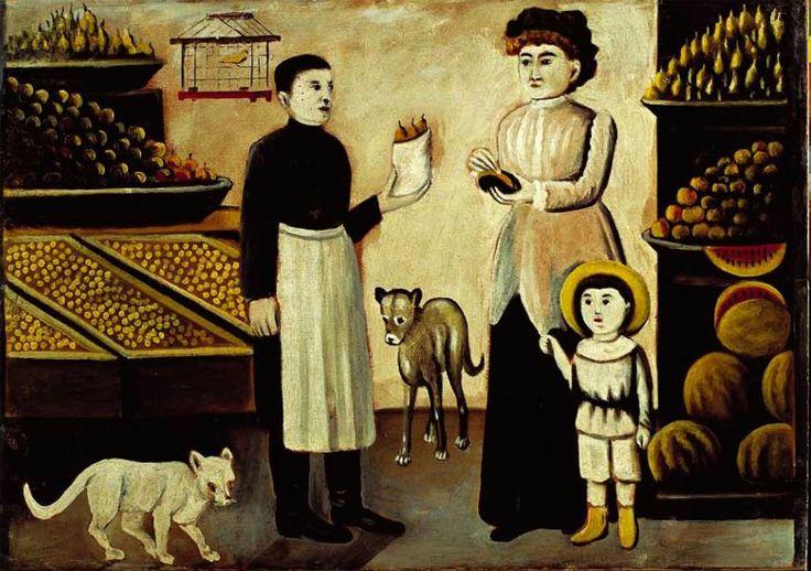 Fruit stall - Niko Pirosmani