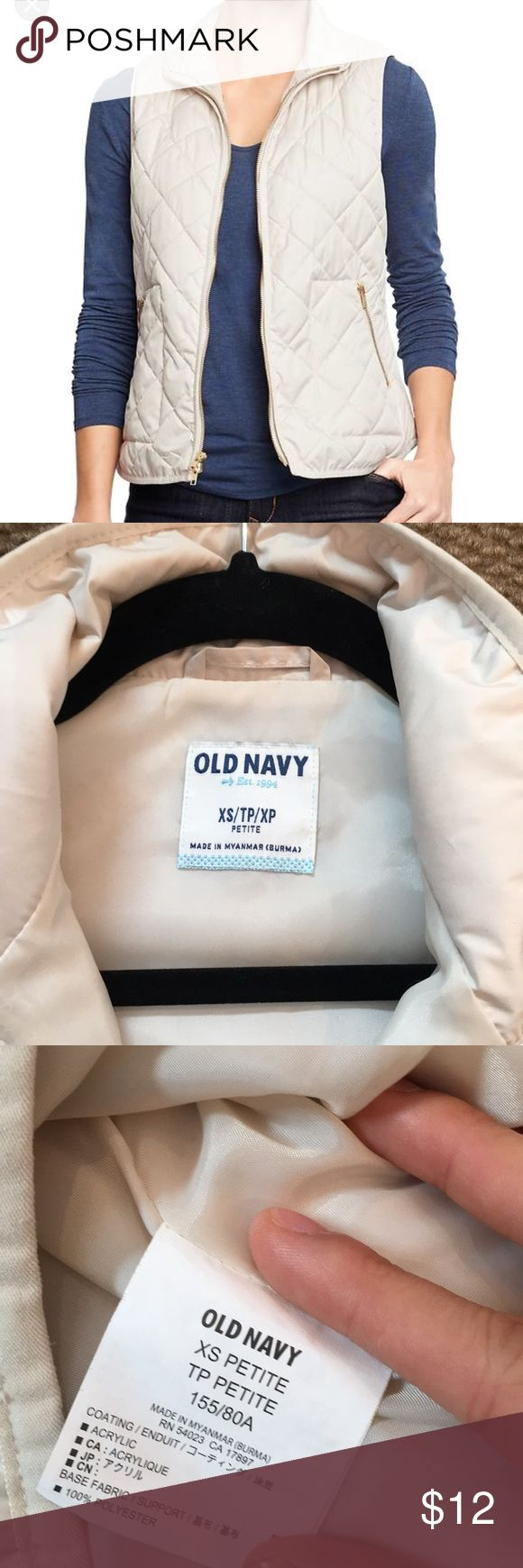 Old Navy Petite Vest A fashionable quilted vest that will make any outfit look even more put together. Old Navy Tops