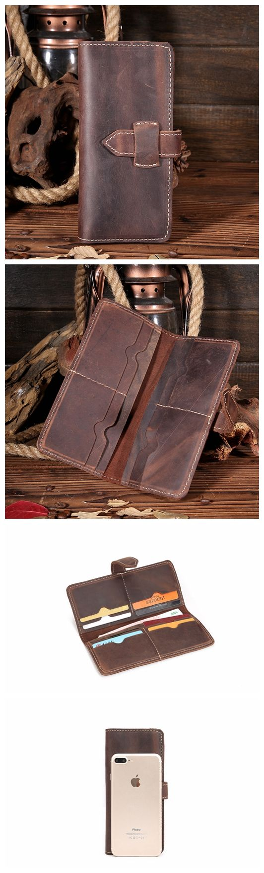 LEATHER WALLET, MEN WALLET, LEATHER HOLDER, PHONE WALLET JX004