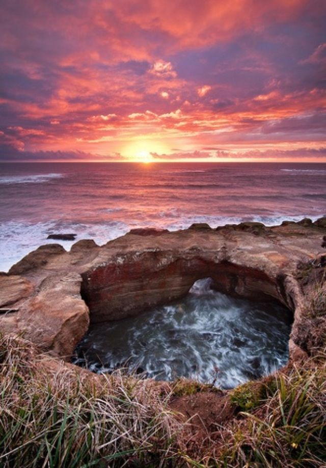 Devil's Punchbowl off of Highway 101 on the Oregon Coast. It's beautiful there