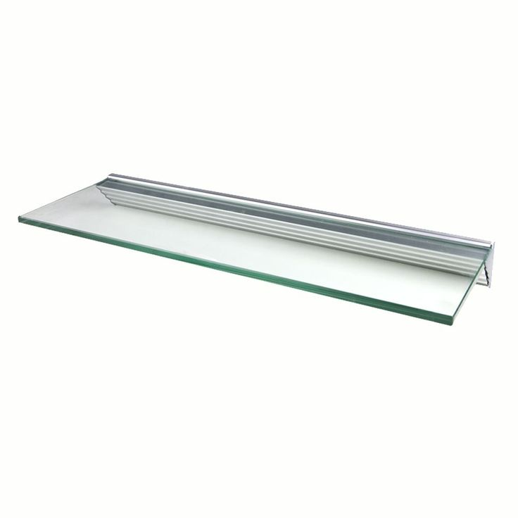 LTL Glacier 24x8 inch Clear Glass Shelf Kits  Pack of 4   Pack. Best 25  Glass shelf brackets ideas on Pinterest   Industrial