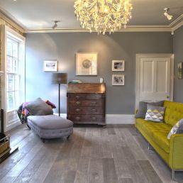 grey hardwood flooring