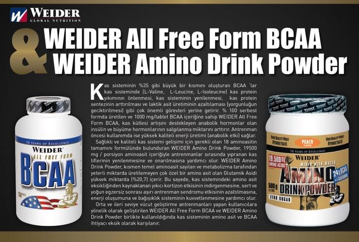 WEIDER All Free Form BCAA & WEIDER Amino Drink Powder http://www.weiderturk.com/amino-asitler.html