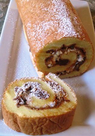 Pionono de Arequipe y Coco (Dulce de Leche and Coconut Roll) from Hispanic Kitchen.