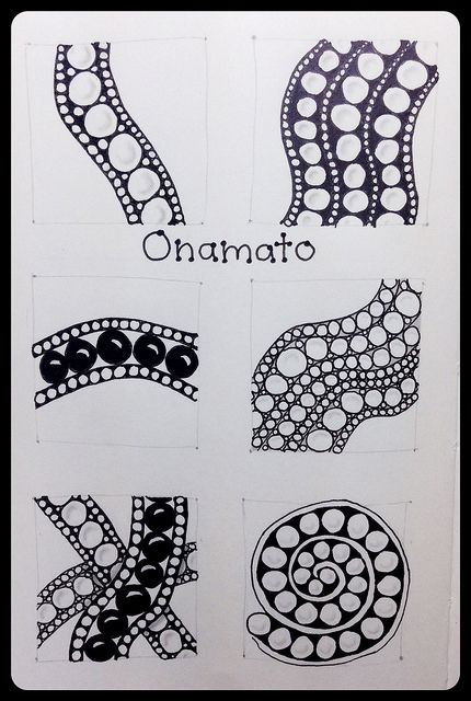 I think I'm ready to draw my step out card for Onamato now that I have finished this practice page in my trusty moleskin sketchbook. I so enjoy taking a pattern and trying some variations. I like putting some of my favorite on my step out cards. Onamato is an official Zentangle pattern. (Visit zentangle.com for more information on this fabulous, meditative art method created by Maria Thomas and Rick Roberts.)