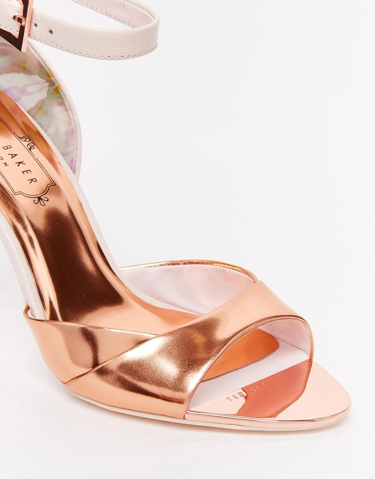 Image 4 ofTed Baker Camiyl Rose Gold Two Part Sandals