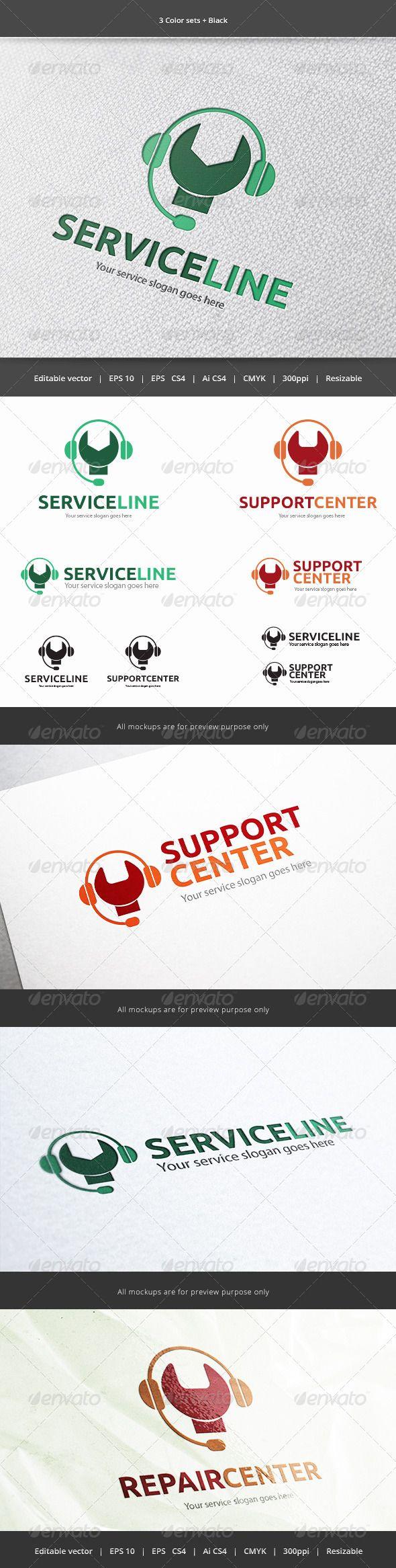 Service Line  - Logo Design Template Vector #logotype Download it here: http://graphicriver.net/item/service-line-logo/5916393?s_rank=1157?ref=nexion