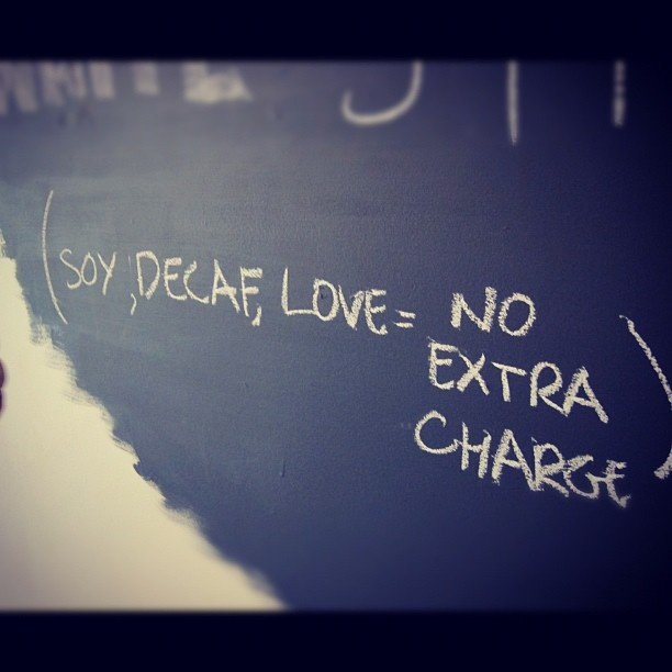chalkboard wall menu - Our first little espresso bar in Palm beach opened 2012 for Autumn-Spring season.