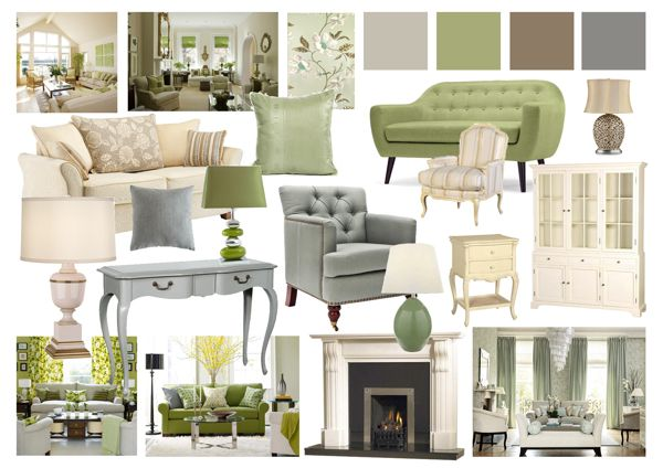 Living Room Mood Boards by Amy Farrar, via Behance