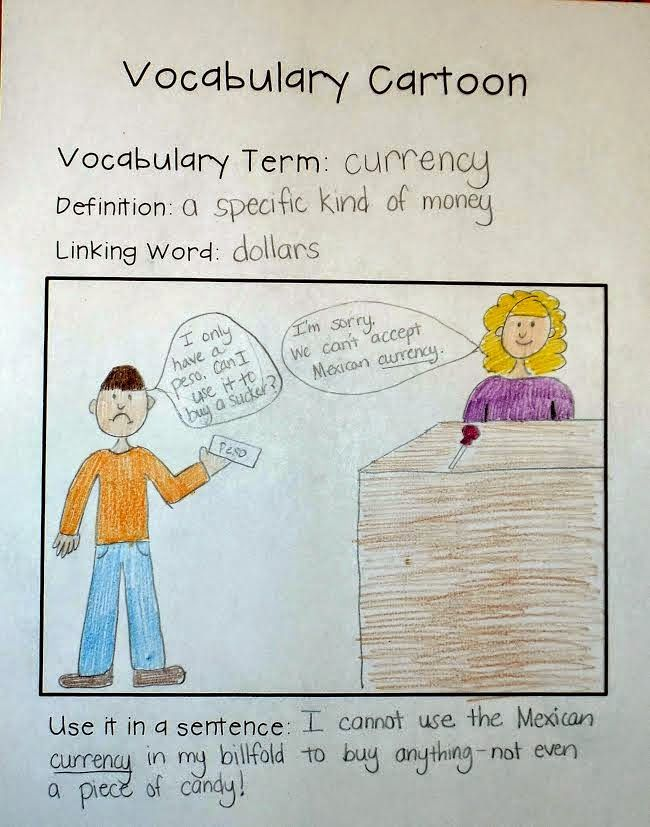 Vocabulary Cartoon freebie and ELL strategies I do this with my students and it is a wonderful strategy for vocabulary comprehension.