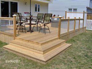 Small Wooden Decks | ... Wood Decks And The Low Maintenance Decks Using  Composite