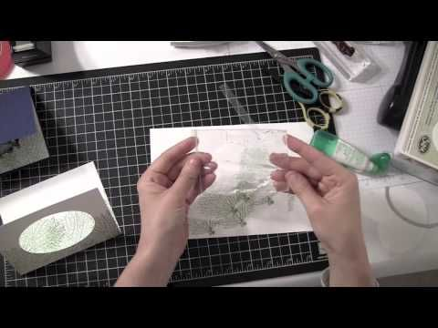 Stampin Up Video - Hair Gel Water Effect Technique