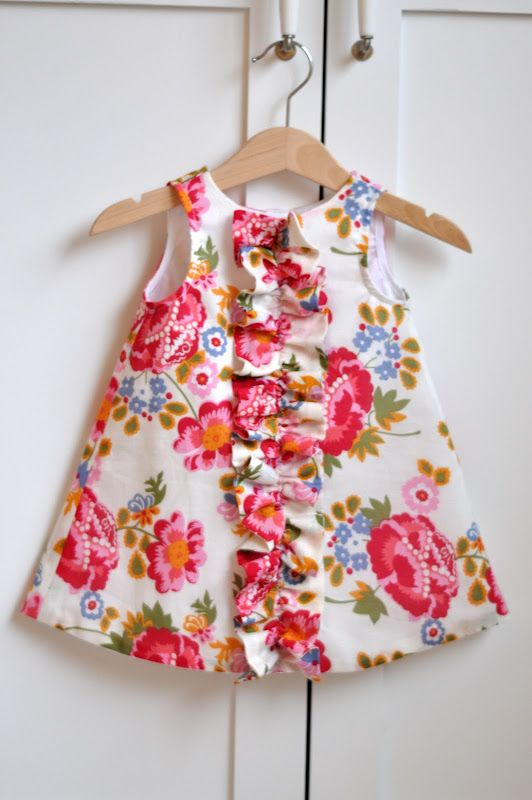 So, I have a 'pillowcase dress' tutorial on my board that is this identical dress but with sleeves. I think I like it better without sleeves. Would be CUTE for Easter with a little white sweater.