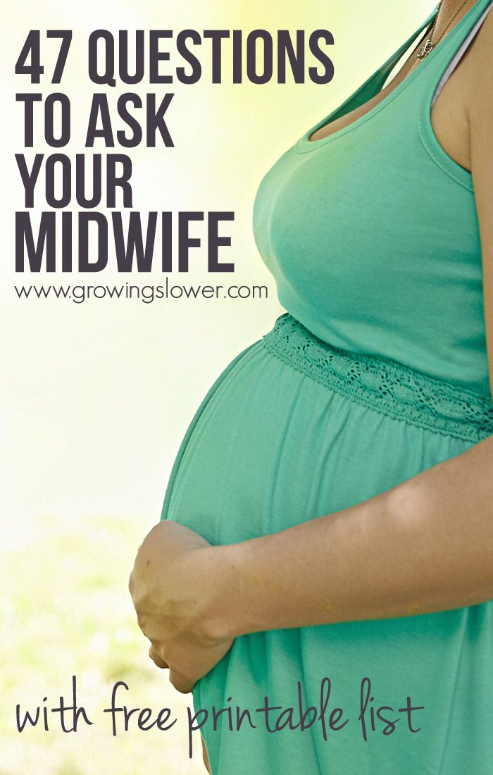 Download this free list of questions to ask a midwife during an interview printable to take with you to your first appointment.