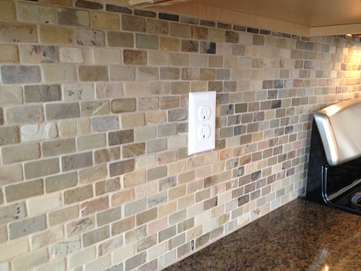 Great Neutral Backsplash Home Design Pinterest
