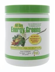 All Day Energy Greens. The Best Energy Supplement! My mother-in-law introduced us to this after experiencing a significant difference in her own overall health & energy! Now, my already active & healthy husband takes this every morning & can't believe the difference in his energy levels. I just ordered more...with enough for me too! ^_^
