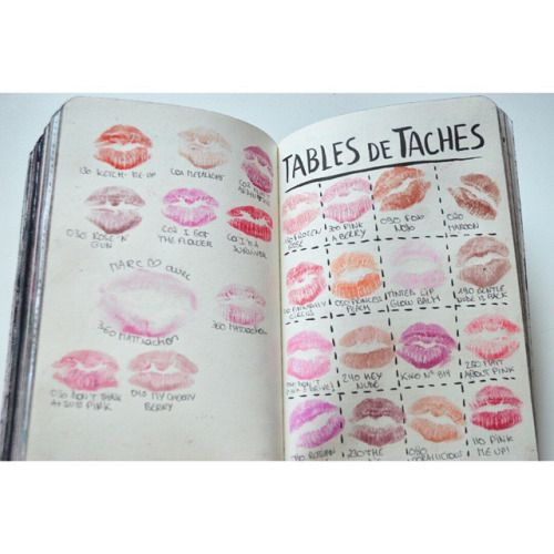 Wreck this journal Saccage ce carnet #wreckthisjournal #saccagececarnet #lipstick