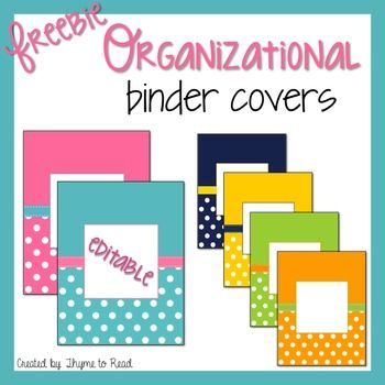 These coordinating binder covers would motivate anyone to organize.  These six vibrant and polka dot covers are editable in PowerPoint. Just…