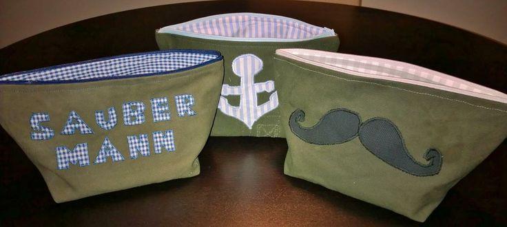 Kulturtaschen, diesmal mal Geschenk für Männer gedacht! wie immer aus einen alten Bundeswehr Seesack