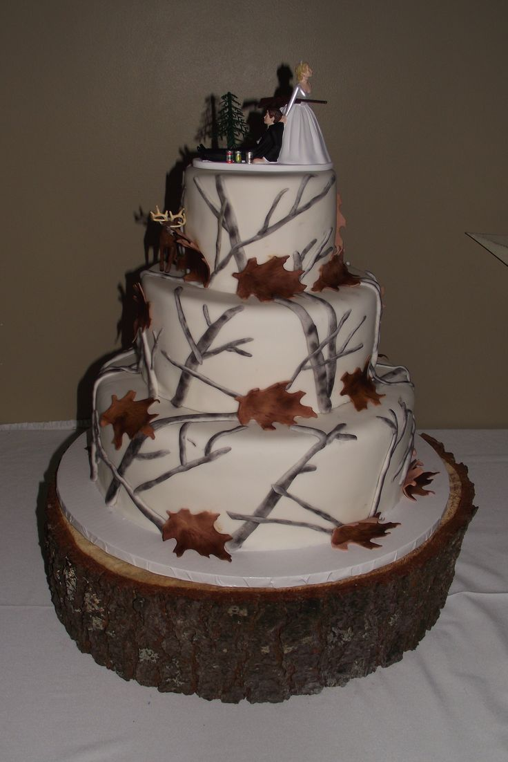 My Winter Wedding Cake (Idea) Winter Camo Wedding Cake   I Created This For  My Brotheru0027s Wedding.