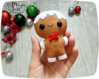 Adornos navideños fieltro hombre adorno Navidad decoraciones fieltro Cute gingerbread man Navidad decoración nuevo años decoraciones de pan de jengibre