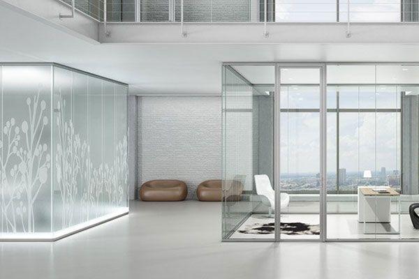 دیوار کناف Glass Office Partitions Modular Office Furniture