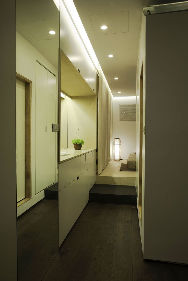 Apartment Renovation under Hanoi Interior Among Modern Bathroom Hallway Design Used Wooden Flooring Also Modern Ceiling Light Ideas Design