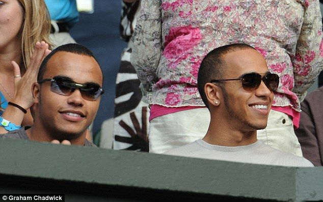Formula One world champion Lewis Hamilton alongside his brother Nicolas (left), who has ce...