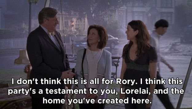 """When he told Lorelai how inspiring she was for creating her own life in Stars Hollow :') -- Richard Gilmore's Best 19 Quotes From """"Gilmore Girls"""""""