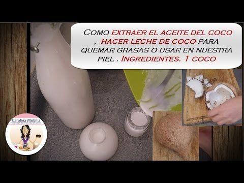 Aceite de Coco , crema y leche de coco casera.